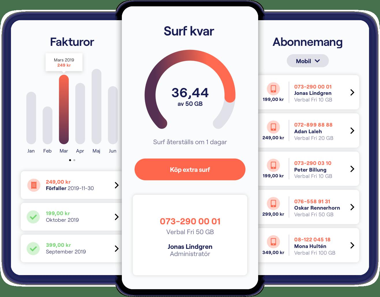 Överblick i vår Verbal App